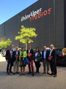 Fédération UDI Lyon - visite Rhône Alpes Studios