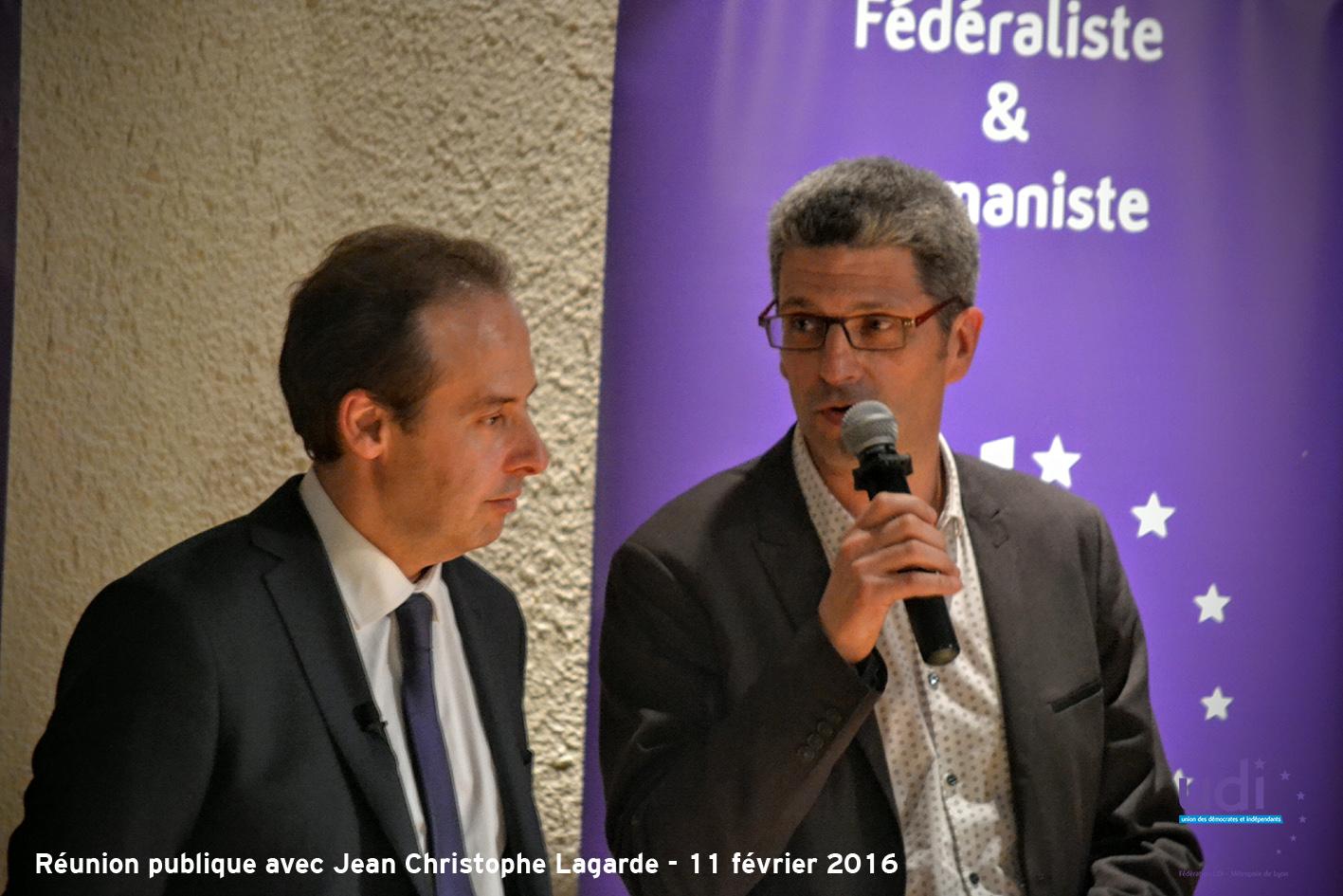 Réunion publique JC LAGARDE Christophe Geourjon - Fédération UDI Métropole de Lyon 16
