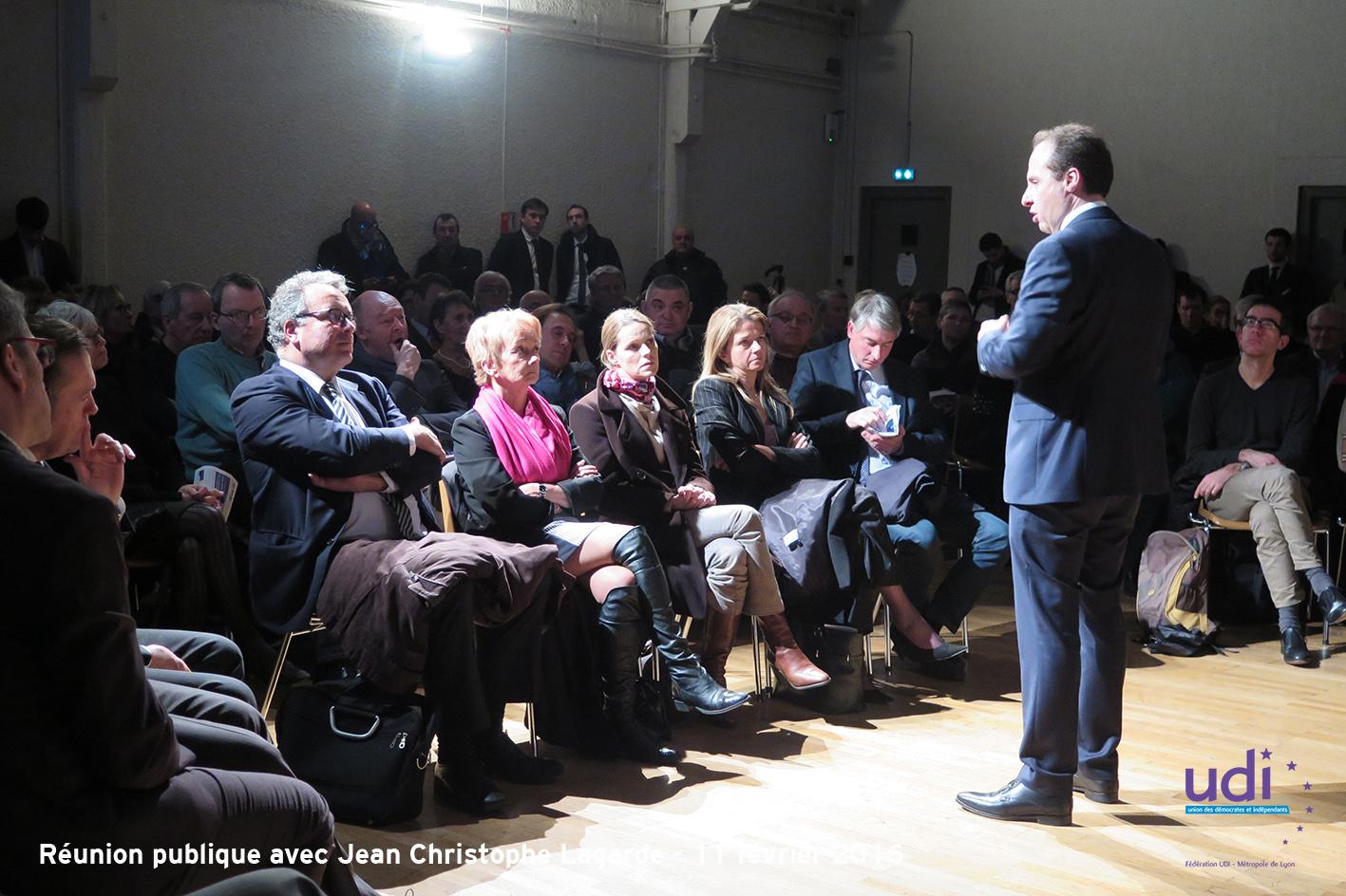 Réunion publique JC LAGARDE - Fédération UDI Métropole de Lyon 15