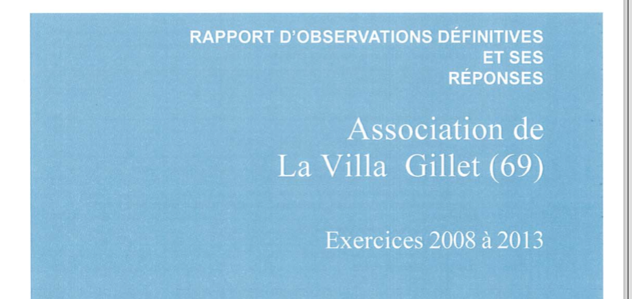 Photo Rapport CRC Villat Gillet - Fédération UDI métropole de Lyon