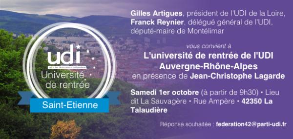 Université de rentrée de l'UDI Auvergne-rhône-Alpes