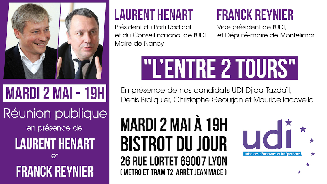 Débat l'entre 2 tours Laurent Henart Franck Reynier Djida Tzadait Legislatives 2017