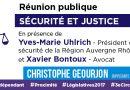 Mercredi 31 mai : Réunion publique Sécurité et justice – Christophe Geourjon
