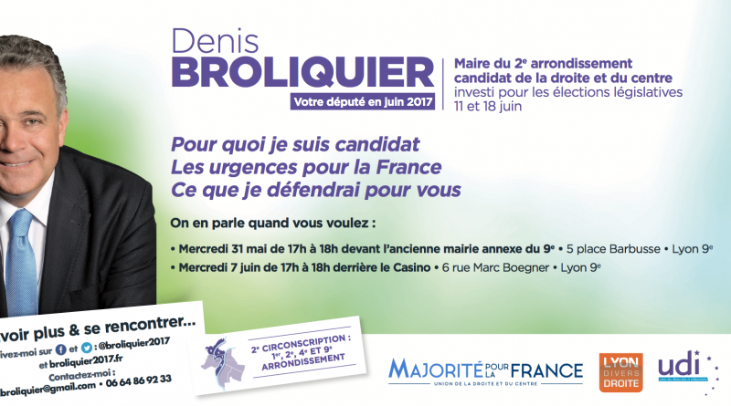 Invitation Denis Broliquier Legislatives 2017 La Duchère