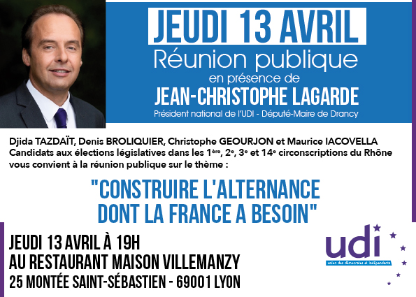 Réunion publique Jean Christophe Lagarde