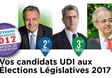Vos candidats UDI aux élections Législatives 2017