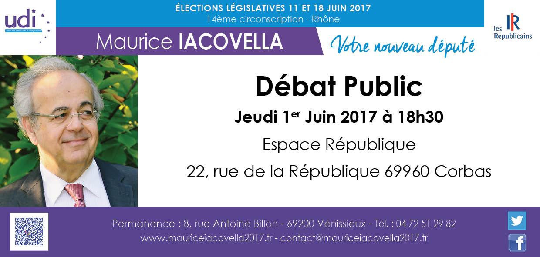 corbas Débat Public Maurice Iacovella Legislatives 2017 circonscription 14 6914 Rhone