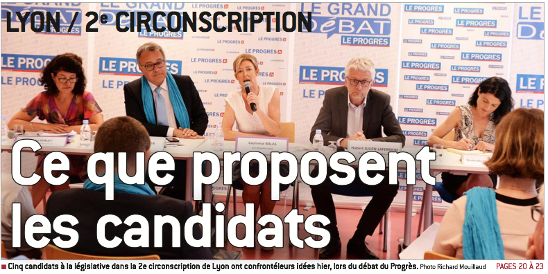 Débat 2e circonscription Rhône Lyon Denis broliquier Législatives 2017
