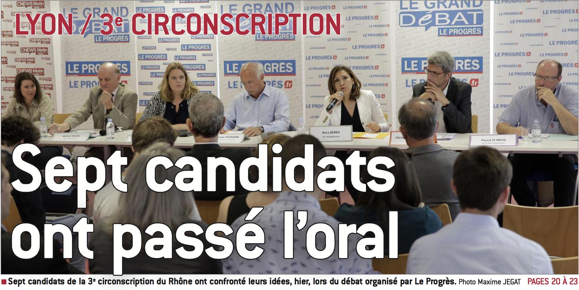 Débat 3e circonscription Rhône Lyon christophe Geourjon Législatives 2017